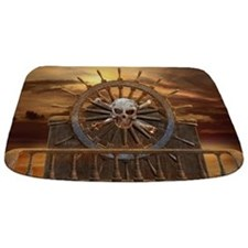 Pirate Skull Rudder Bathmat