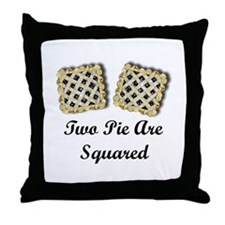 2 Pi R Squared Throw Pillow