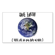 Save earth Rectangle Decal