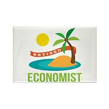 Retired Economist Rectangle Magnet