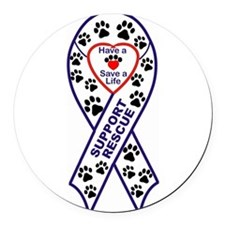 Rescue_Ribbon_Magnet.jpg Round Car Magnet