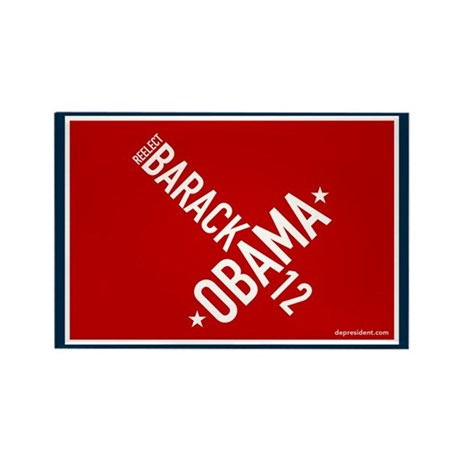 Twisted Obama 08 Rectangle Magnet (100 pack)