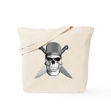 Skull Chef Knives Tote Bag