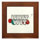 Knit Wit Knitter Framed Tile