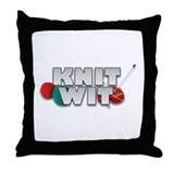 Knit Wit Knitter Throw Pillow