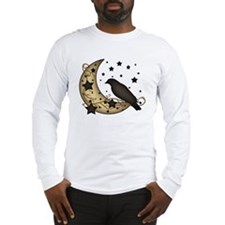 Crow on the Moon Long Sleeve T-Shirt