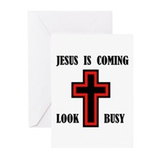 JESUS IS COMING Greeting Cards (Pk of 10)