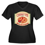 Cherry Pie Harvest Women's Plus Size V-Neck Dark T