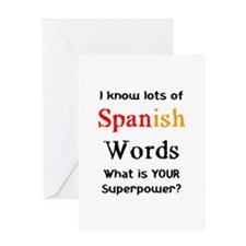 spanish words Greeting Card
