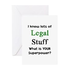 legal stuff Greeting Card