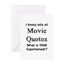 movie quotes Greeting Card