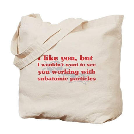 Subatomic Particles Tote Bag
