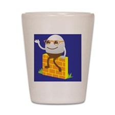 HUMPTY Dumpty on blue Shot Glass