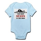 What Happens In The Shop Infant Bodysuit