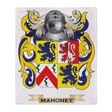 Mahoney Coat of Arms - Family Crest Throw Blanket