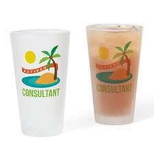 Retired Consultant Drinking Glass