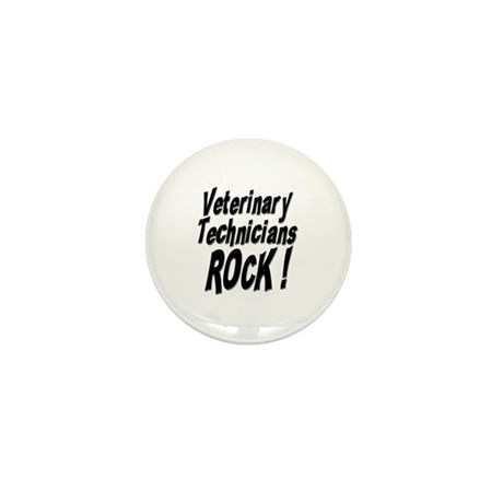 Veterinary Techs Rock ! Mini Button (10 pack)