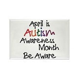 Autism Awareness Month Rectangle Magnet (100 pack)