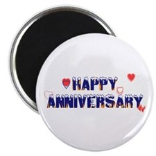 "Happy Anniversary-melt 2.25"" Magnet (10 pack)"