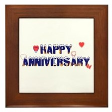 Happy Anniversary-melt Framed Tile