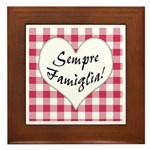 Sempre Famiglia Framed Tile