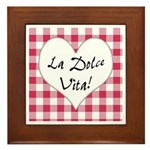 La Dolce Vita Framed Tile