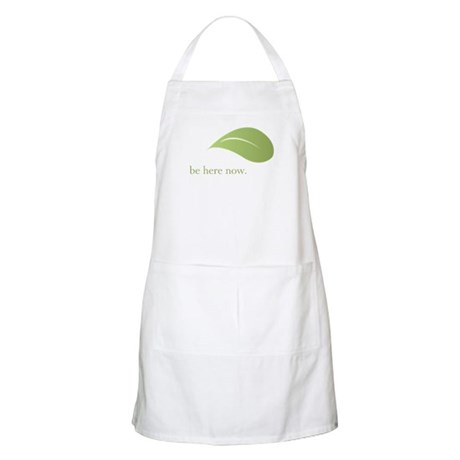 Be Here Now, Green Living BBQ Apron