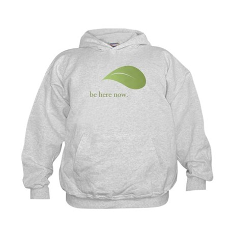 Be Here Now, Green Living Kids Hoodie