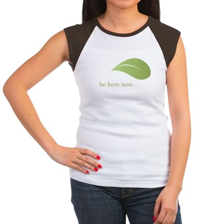Be Here Now, Green Living Women's Cap Sleeve T-Shi
