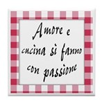 Amore Cucina Passione Tile Coaster