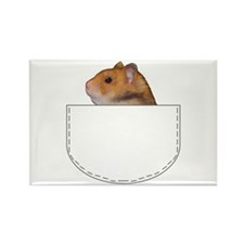 Hamster pocket pal Rectangle Magnet