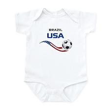 Soccer 2014 USA 1 Infant Bodysuit