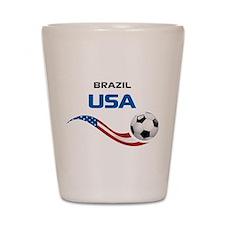 Soccer 2014 USA 1 Shot Glass