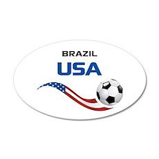 Soccer 2014 USA 1 35x21 Oval Wall Decal