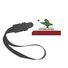 California Surfing Bear Luggage Tag