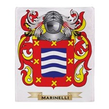 Marinelli Coat of Arms - Family Cres Throw Blanket