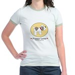 Puppy Love Yellow Jr. Ringer T-Shirt