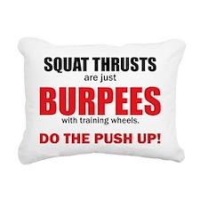 Squat Thrusts Rectangular Canvas Pillow
