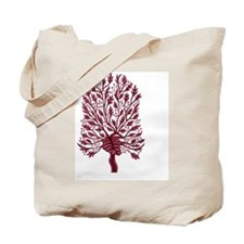Skeleton Heart Hawthorn Tree Tote Bag