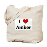 I Love Amber Tote Bag