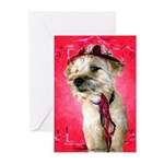 Red Hat Cairn Greeting Cards (Pk of 6)