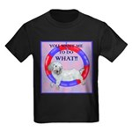 Agility Clumber Spaniel Kids Dark T-Shirt