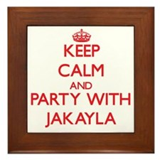 Keep Calm and Party with Jakayla Framed Tile