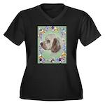 Clumber Spaniel Women's Plus Size V-Neck Dark T-Sh