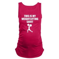 This Is My Weightlifting Shirt Maternity Tank Top