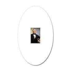 John  Tyler 20x12 Oval Wall Decal