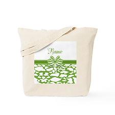 Trendy Animal Print Ribbon Tote Bag