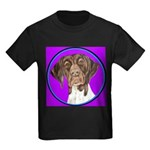 German Shorthair Pointer Head Kids Dark T-Shirt