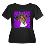 German Shorthair Pointer Head Women's Plus Size Sc