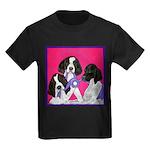 GSP Puppies Rule Kids Dark T-Shirt